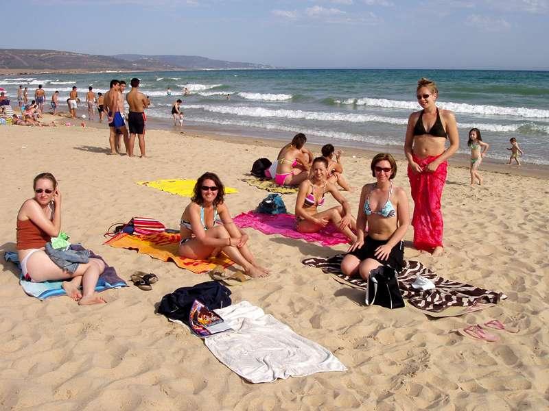 Sunbathing on Barbate beach
