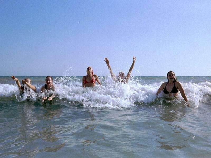 Swimming off Barbate beach