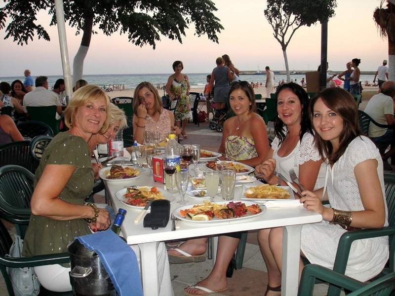 Dinner on the seafront at Barbate