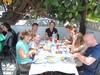 Enjoying lunch at Venta Luis
