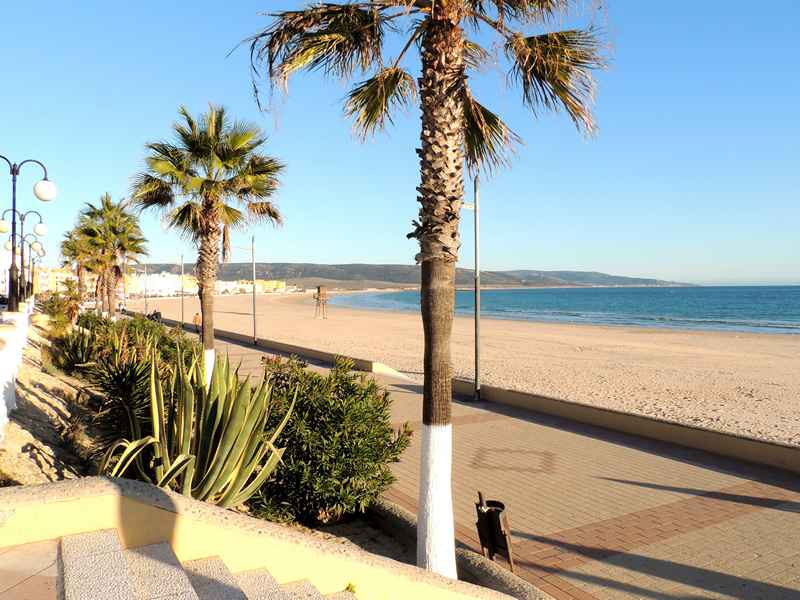 Barbate promenade on our horse riding holiday