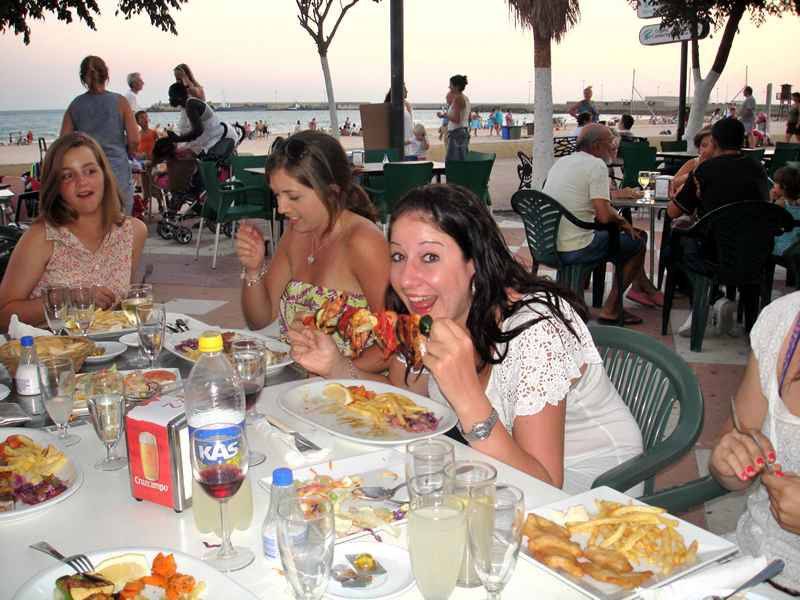 Dinner at a typical Restaurant on our equestrian vacation