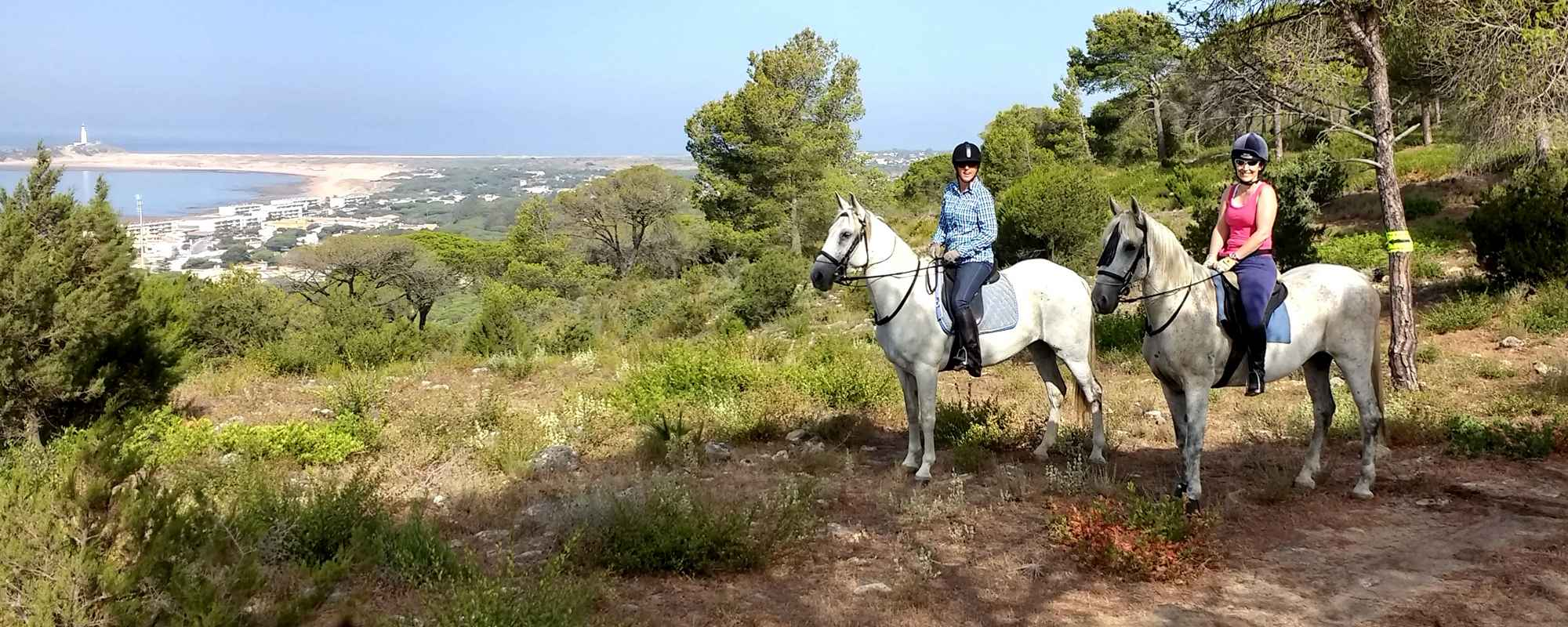 Horse riding holidays located on the coast in Andalusia.