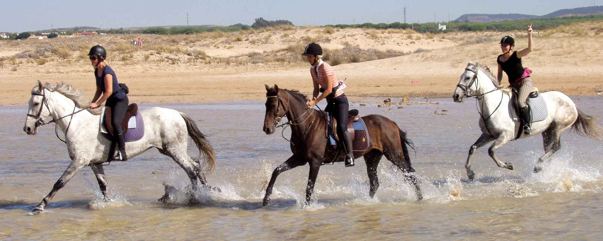 Unspoilt beaches for horse riding holidays