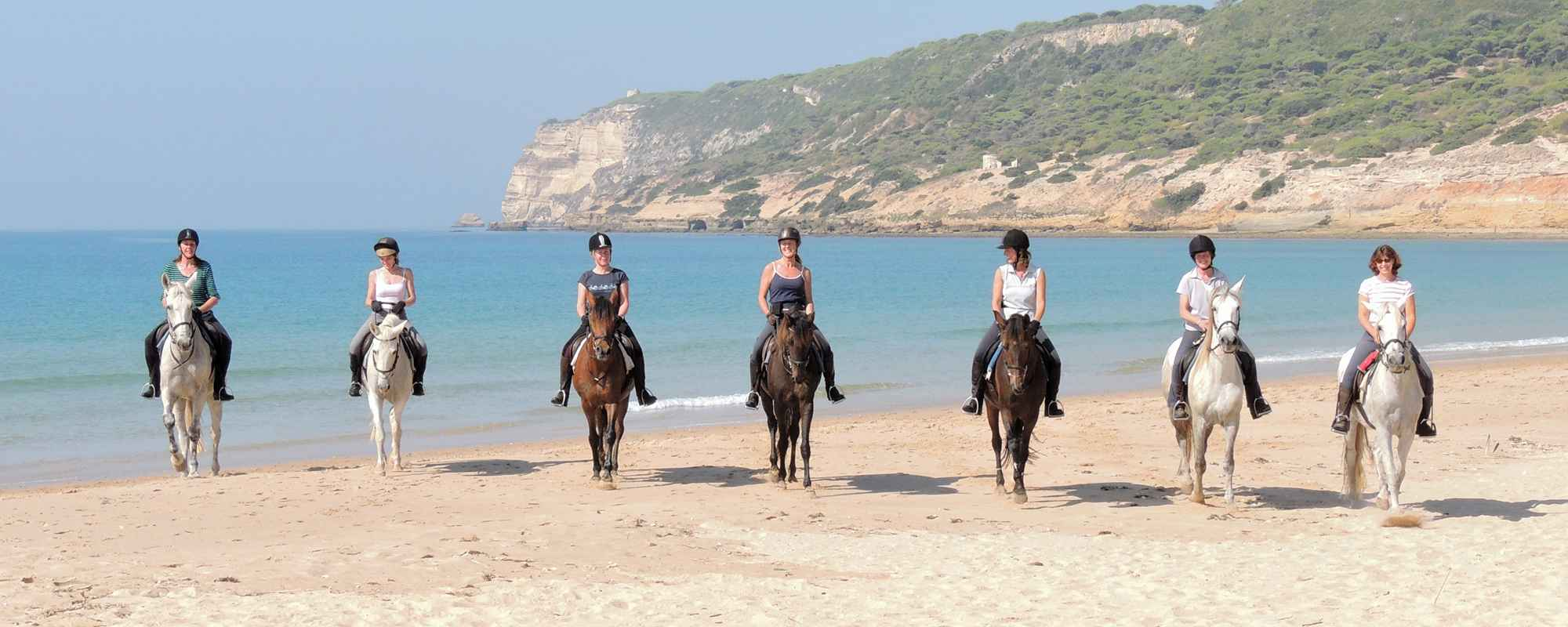Superb horse riding holidays on golden beaches