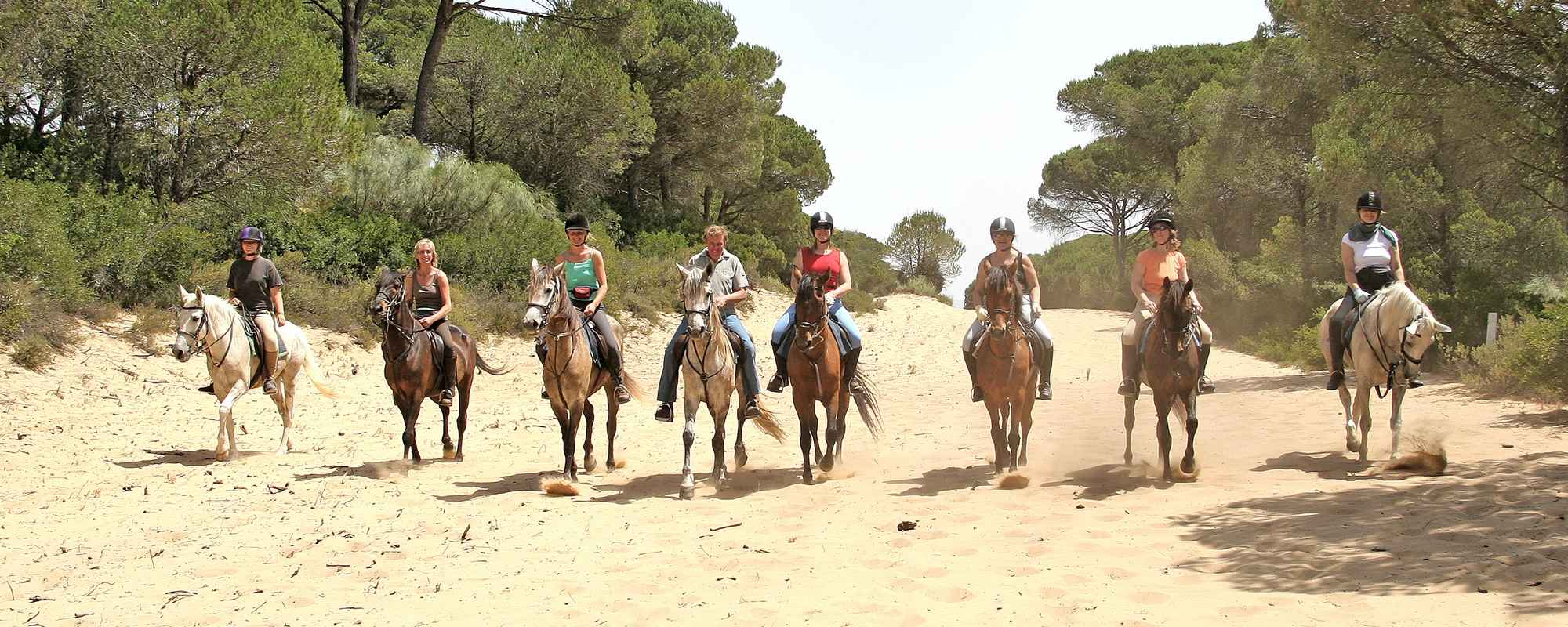 Equestrian holiday in the Cadiz province in Spain.