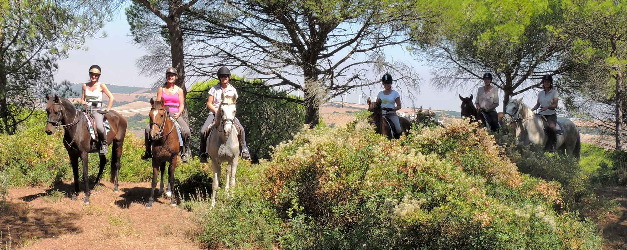 Superb views on a horse riding holiday