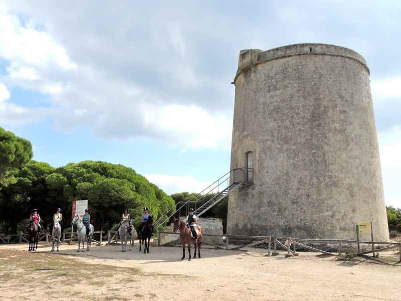 Torre de Tajo on our equestrian vacation